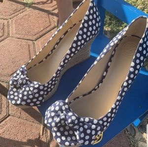 💥🔥 Tory Burch Polka Dots Summer Wedges💥🔥